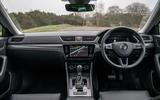 Skoda Superb iV 2020 road test review - dashboard