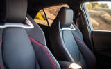 Toyota Corolla hybrid hatchback 2019 road test review - front seats