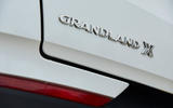 Vauxhall Grandland X Hybrid4 2020 road test review - rear badge