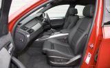 BMW X6 M front seats