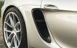 Porsche 718 Spyder 2020 road test review - rear intake