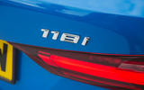 BMW 1 Series 118i 2019 road test review - rear badge