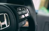 Honda e 2020 road test review - steering wheel controls