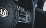 Kia e-Niro 2019 road test review - steering wheel buttons