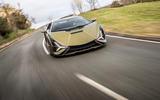 12 lamborghini sian 2021 uk first drive review on road nose