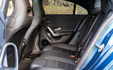 Mercedes-AMG CLA35 2020 road test review - rear seats