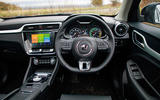 MG ZS EV 2019 road test review - dashboard