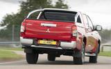 Mitsubishi L200 2019 road test review - cornering rear