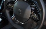 Peugeot e-208 2020 road test review - steering wheel