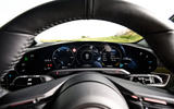 Porsche Taycan 2020 road test review - instruments