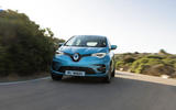 Renault Zoe 2020 road test review - on the road nose