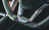 Seat Leon eHybrid 2020 road test review - steering wheel