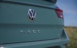 Volkswagen T-Roc Cabriolet 2020 road test review - rear logo