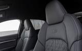 Audi E-tron Sportback 2020 road test review - front seats