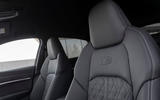 Audi E-tron Sportback 2020 road test review - front seats