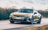 13 audi rs e tron gt 2021 lhd first drive review on road front