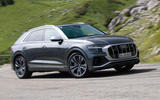 Audi SQ8 2019 road test review - cornering front