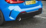 BMW 1 Series 118i 2019 road test review - rear bumper