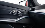 BMW 3 Series 330e 2020 road test review - interior trim