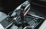 BMW M5 2018 review gearstick