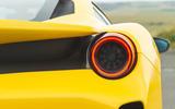 Ferrari 488 Pista 2019 road test review - rear lights
