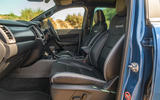 Ford Ranger Raptor 2019 road test review - front seats