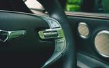 13 Genesis GV80 2021 road test review steering wheel