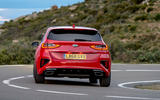 Kia Ceed GT 2019 road test review - cornering rear