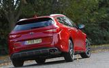 Kia Optima Sportswagon 2018 review - cornering rear