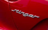 Kia Stinger GT line 2018 review Stinger badge