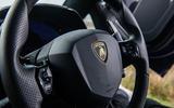 Lamborghini Aventador SVJ 2019 road test review - steering wheel