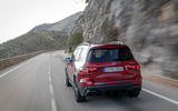 Mercedes-AMG GLB 35 2020 road test review - cornering rear