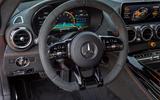 Mercedes-AMG GT Black Series road test review - steering wheel