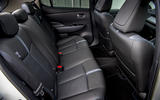 Nissan Leaf 2018 UK review rear seats