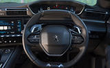 Peugeot 508 2018 road test review - steering wheel