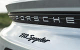 Porsche 718 Spyder 2020 road test review - rear badge
