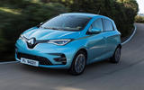 Renault Zoe 2020 road test review - cornering front