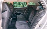 Skoda Octavia Estate 2020 road test review - rear seats
