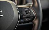 13 Suzuki Across 2021 road test review steering wheel buttons