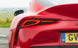 Toyota GR Supra 2019 road test review - rear lights