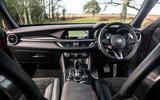 Alfa Romeo Stelvio Quadrifoglio 2019 road test review - dashboard