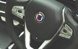 Alpina XD3 2019 UK road test review - steering wheel