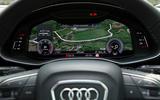 Audi Q8 50 TDI Quattro S Line 2018 road test review - instrument cluster