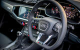 Audi RS Q3 Sportback 2020 road test review - steering wheel