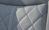 Audi S8 2020 road test review - seat quilting