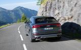 Audi SQ8 2019 road test review - cornering rear