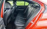 BMW 3 Series 330e 2020 road test review - rear seats