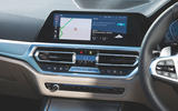 BMW 3 Series 320d 2019 Road Test review - infotainment