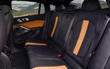 BMW X6 M Competition 2020 road test review - rear seats