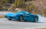 Ferrari F8 Tributo 2019 road test review - drifting